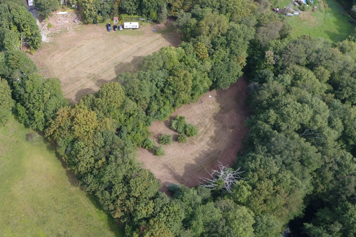 Aerial Photo of Lower Field (Please visit GSD to understand specific land for memorial)