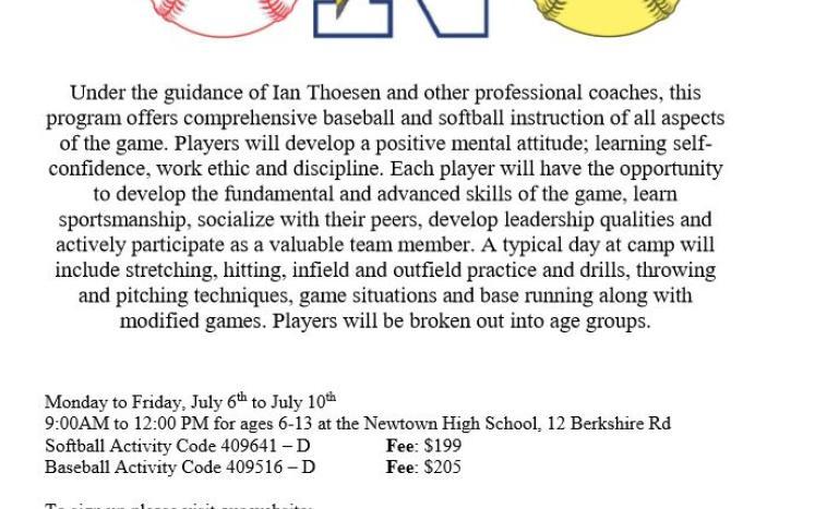 Thosen Softball and Baseball
